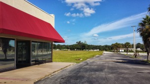 Looking north to where Roses and Winn Dixie used to stand.