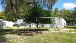 Swing set that I'm 100% dates from my time (and from the looks maybe even my father's time).